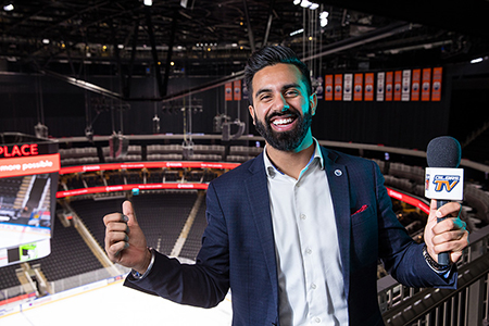 Edmonton Oilers digital content producer Tony Brar
