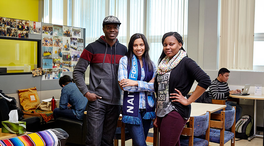 international student peer mentors at NAIT