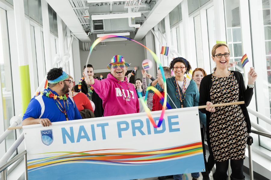 NAIT students,staff and alumni celebrate Pride Walk