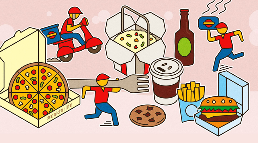 takeout illustration