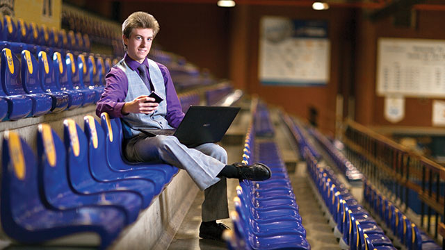 Tyson Dolynny hopes to put his skills to work in another form of broadcasting - social media.