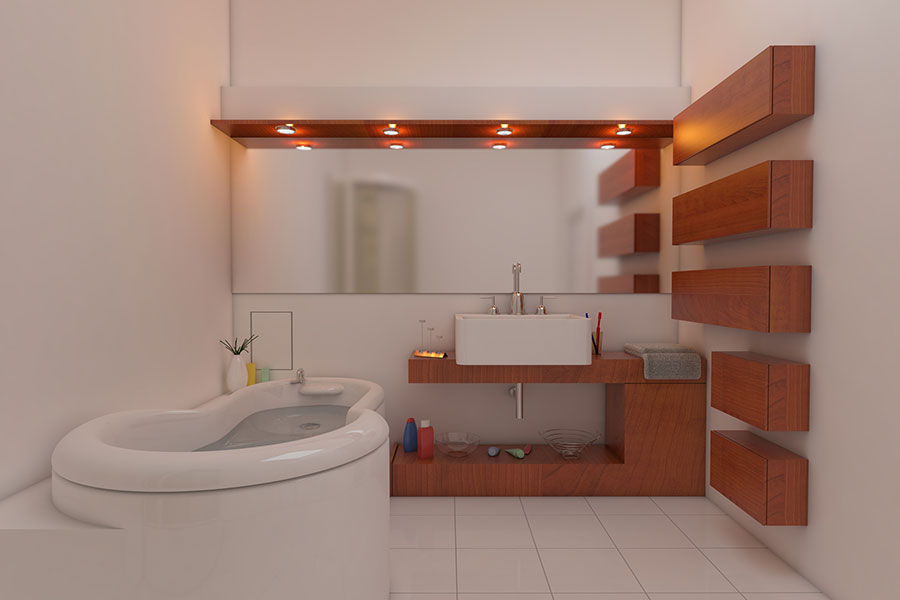 bathroom with ambient light