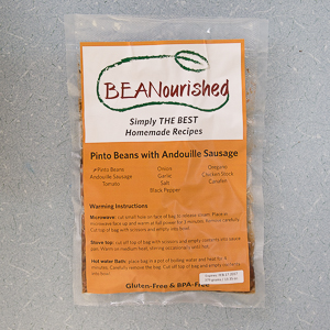 JR Shaw School of Business students developed the label and marketing for Beanourished, a line of heat-and-eat bean dishes developed at NAIT.