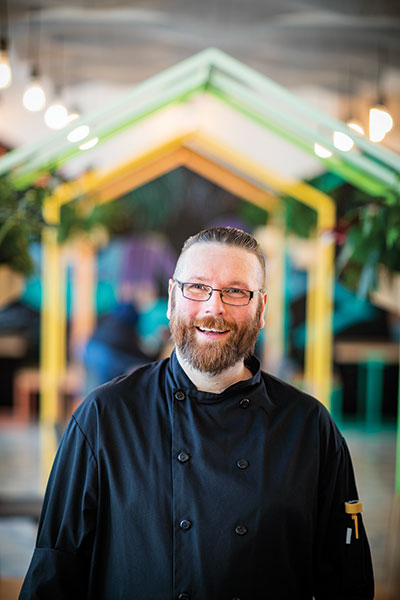 brian mcbride, chef, hallway cafe, edmonton city hall