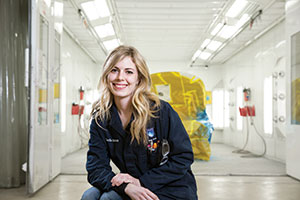 cecile bukmeier, nait auto body technician instructor