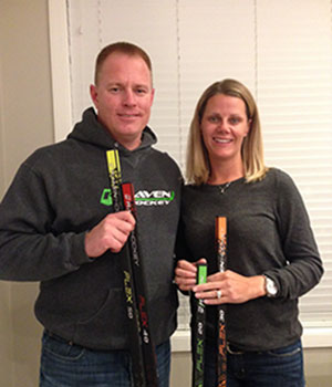 Dan and Lori Pilling of Raven Hockey