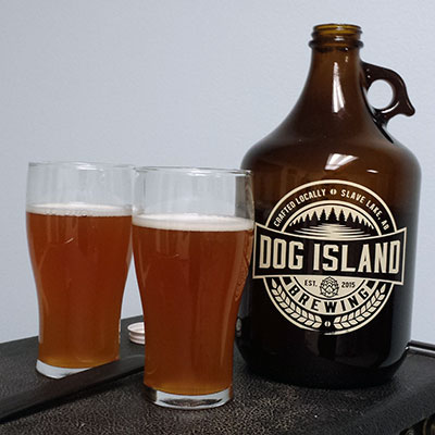 DIBS berry raspberry wheat ale is one of Dog Island Brewing's top selling beers