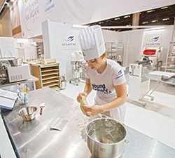 Elien de Herdt competed in an event that would allow her to possibly one return one day to the Bakery World Cup.