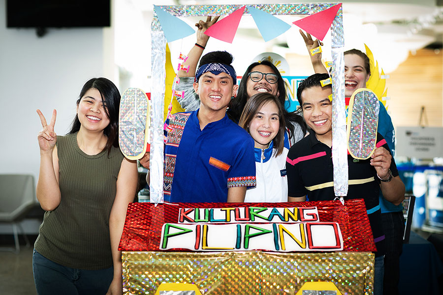 filipino students at NAIT's Mosaic Festival