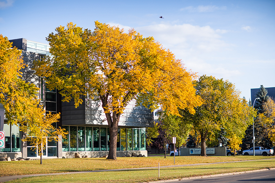 NAIT main campus in autumn
