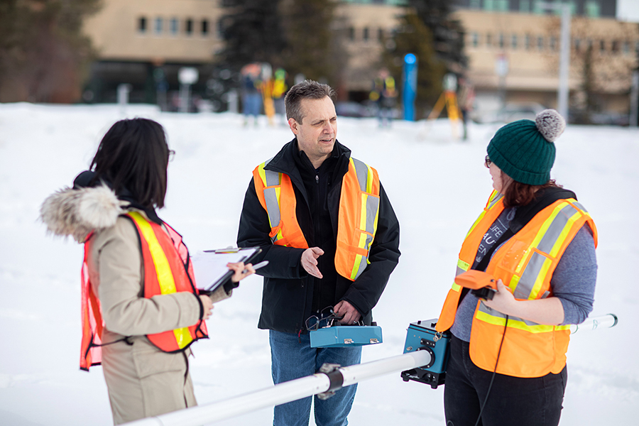 NAIT Geomatics Engineering Technology students gain hands-on experience