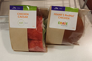 Grab-and-go offerings featuring halal chicken at NAIT.
