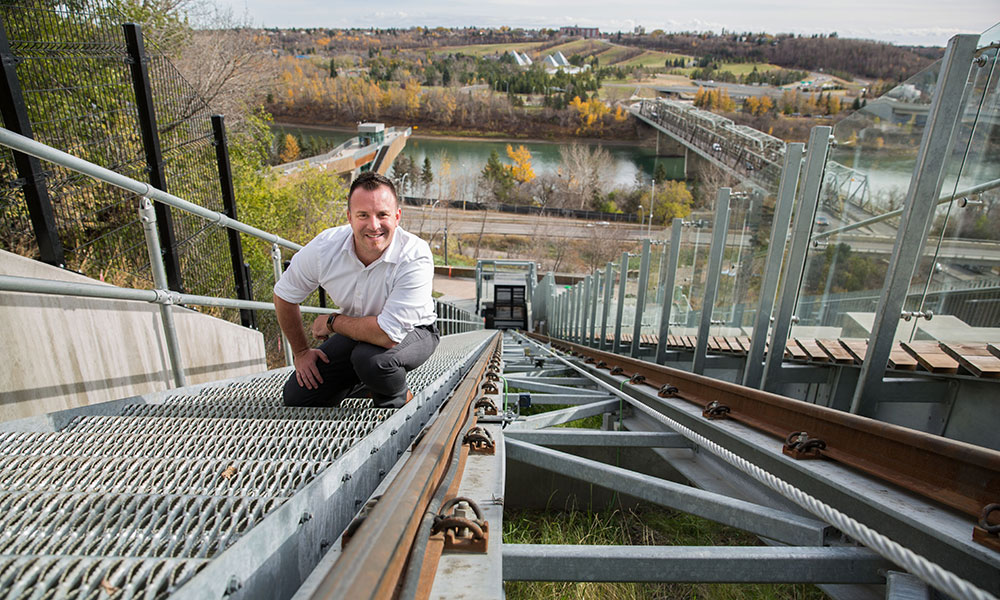 jesse banford, director of facility infrastructure delivery at the City of Edmonton, funicular, construction engineering technology, NAIT