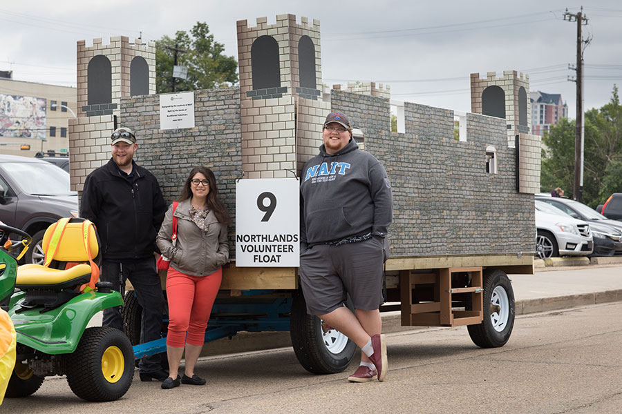 k-days float designed by NAIT Engineering Design and Drafting Technology Students