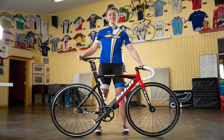 kelsey mitchell, nait grad, former ooks soccer player, edmonton, cyclist