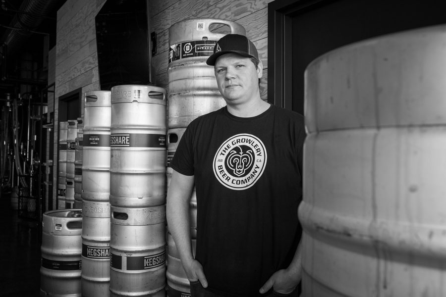 Kevin Danard, NAIT grad and co-founder of the Growlery craft beer brewery in Edmonton