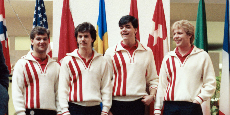 kevin martin, far right, and curling team