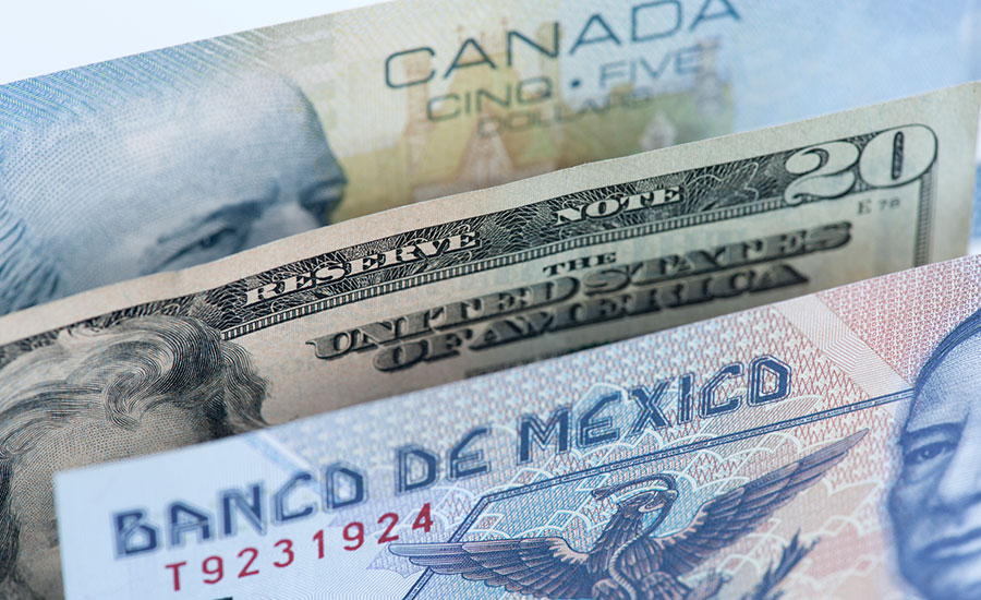 canadian united states mexico money nafta