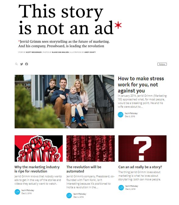 Pressboard media story from techlife magazine