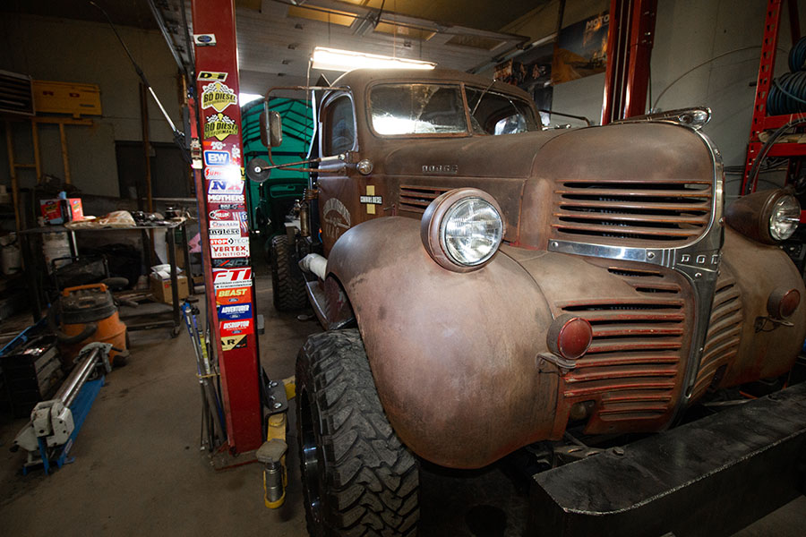 rat rods by matteo medoro, 1947 dodge front view