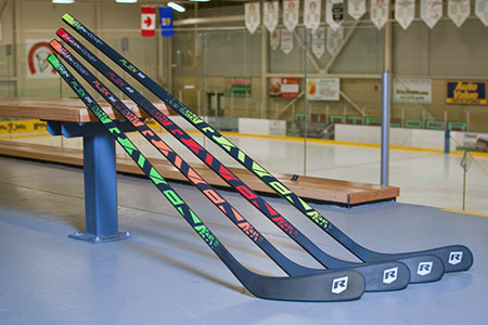Raven Hockey sticks are colour coded and designed for junior players under 110 pounds