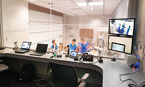 NAIT simulation centre monitoring room