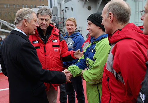 Spencer Smirl and his team meet with Prince Charles