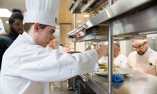 students at ernest's, nait's fine dining restaurant