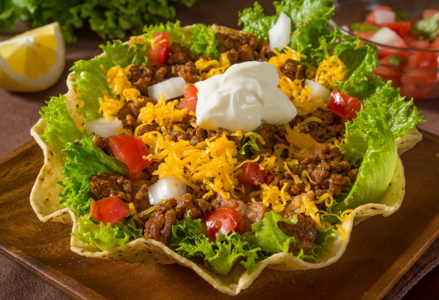 taco salad with ground beef