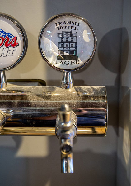 beer tap handle at transit hotel, edmonton